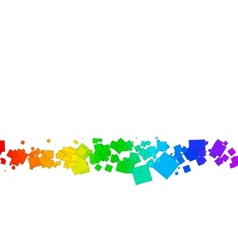 colored squares on a white background vector image vector image