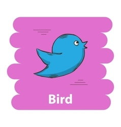 Cute cartoon bird icon vector image vector image