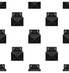 Envelope with invitation card icon in black style vector image vector image