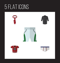 Flat icon dress set of underclothes uniform vector