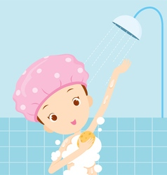 Girl bathing vector image vector image