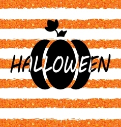 Glitter orange wallpaper for happy halloween with vector