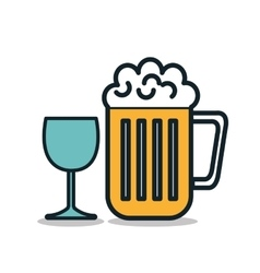 Icon beer cold drink design vector