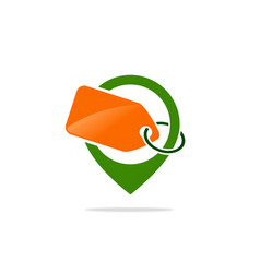 label gps discount logo vector image vector image
