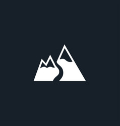 mountain snow icon simple vector image vector image