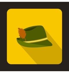 Oktoberfest tirol hat icon flat style vector