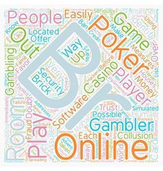 Online poker rooms text background wordcloud vector