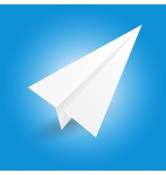 Origami paper airplane vector