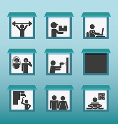 people activities design vector image