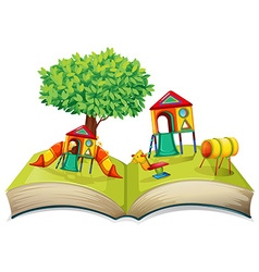 Playground in the storybook vector