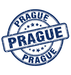 Prague stamp vector