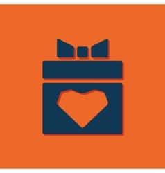 present heart icon vector image