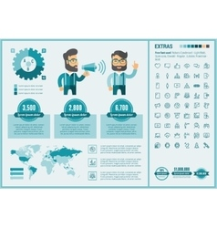 Social Media flat design Infographic Template vector image