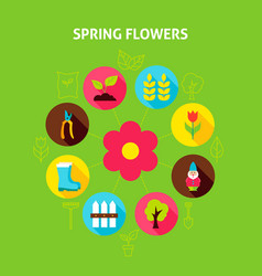 Spring flowers concept vector