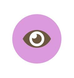 Stylish icon in color circle human eye vector
