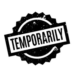 Temporarily rubber stamp vector