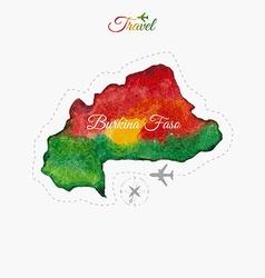 Travel around the world burkina faso watercolor vector