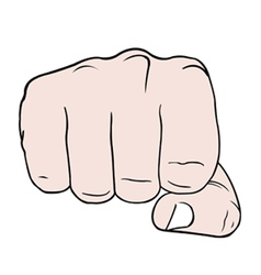 a fist vector image