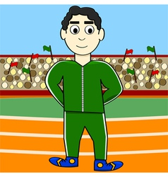 Cartoon athlete vector