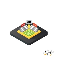 Isometric football field icon building city vector