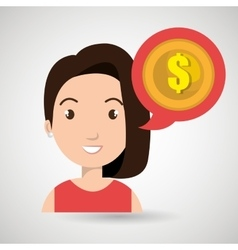 Woman tax payment report vector