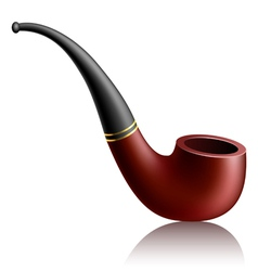 Realistic tobacco pipe vector