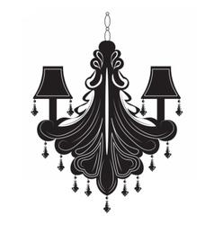 Classic baroque chandelier vector