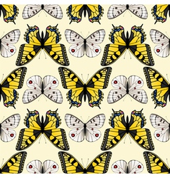 butterfly seamless3 vector image
