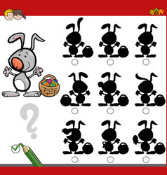 Shadow game with easter bunny vector