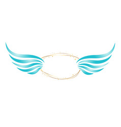 Abstract angel frame vector