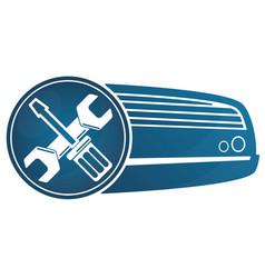 repair air conditioner vector image