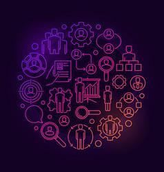 Human resources bright vector