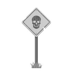 Sign single icon in monochrome stylesign vector