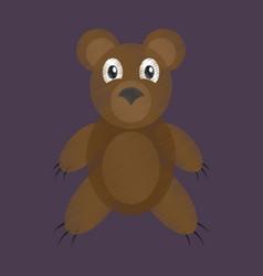 Flat shading style icon toy bear vector