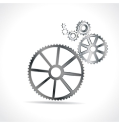 Metal cogs vector