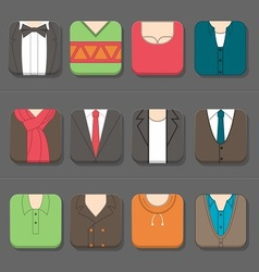 Mans clothing icon vector