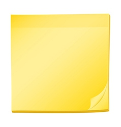 A topview of a pad of yellow post-it vector image