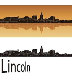 Lincoln skyline vector