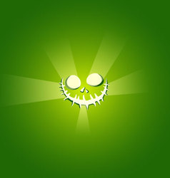 Face devil on green background vector