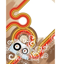 7floral line 08 1 vector image