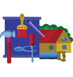 Home renovation vector