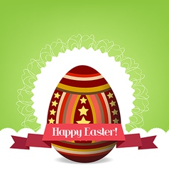 Happy easter with egg vector