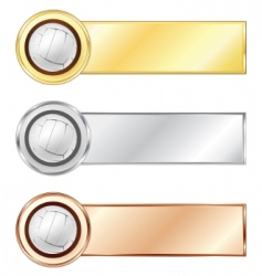 Volleyball medals vector