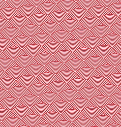 Red abstract background of striped waves vector