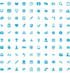 100 education icons vector