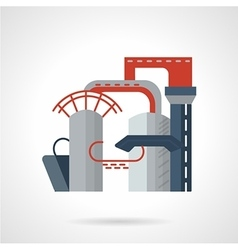 Gas plant flat icon vector