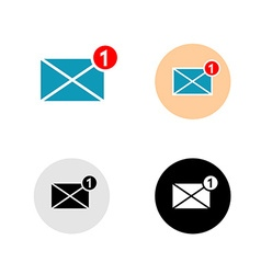 New mail message icon vector