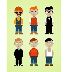 Six working men vector