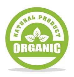 Organic and Natural Product label vector image