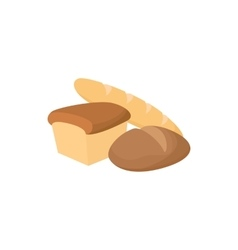 Assortment of bread icon cartoon style vector